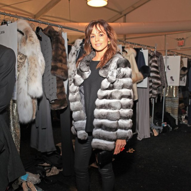 Dennis Basso Fall/Winter 2015-16 backstage & Celebrity Appearances