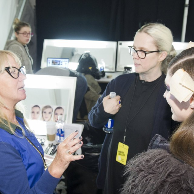 Monique Lhuillier Fall/Winter 2015-16 Backstage
