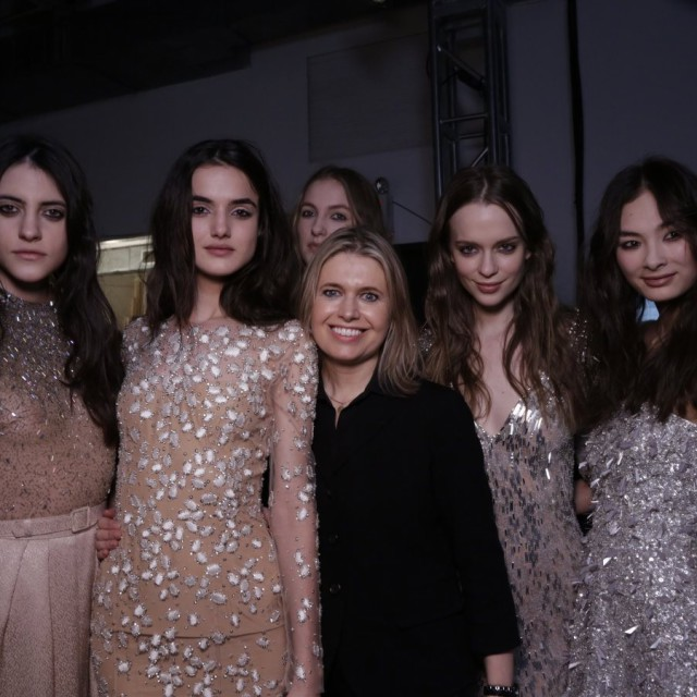 Front row & backstage at Jenny Packham Fall/Winter 2015-16
