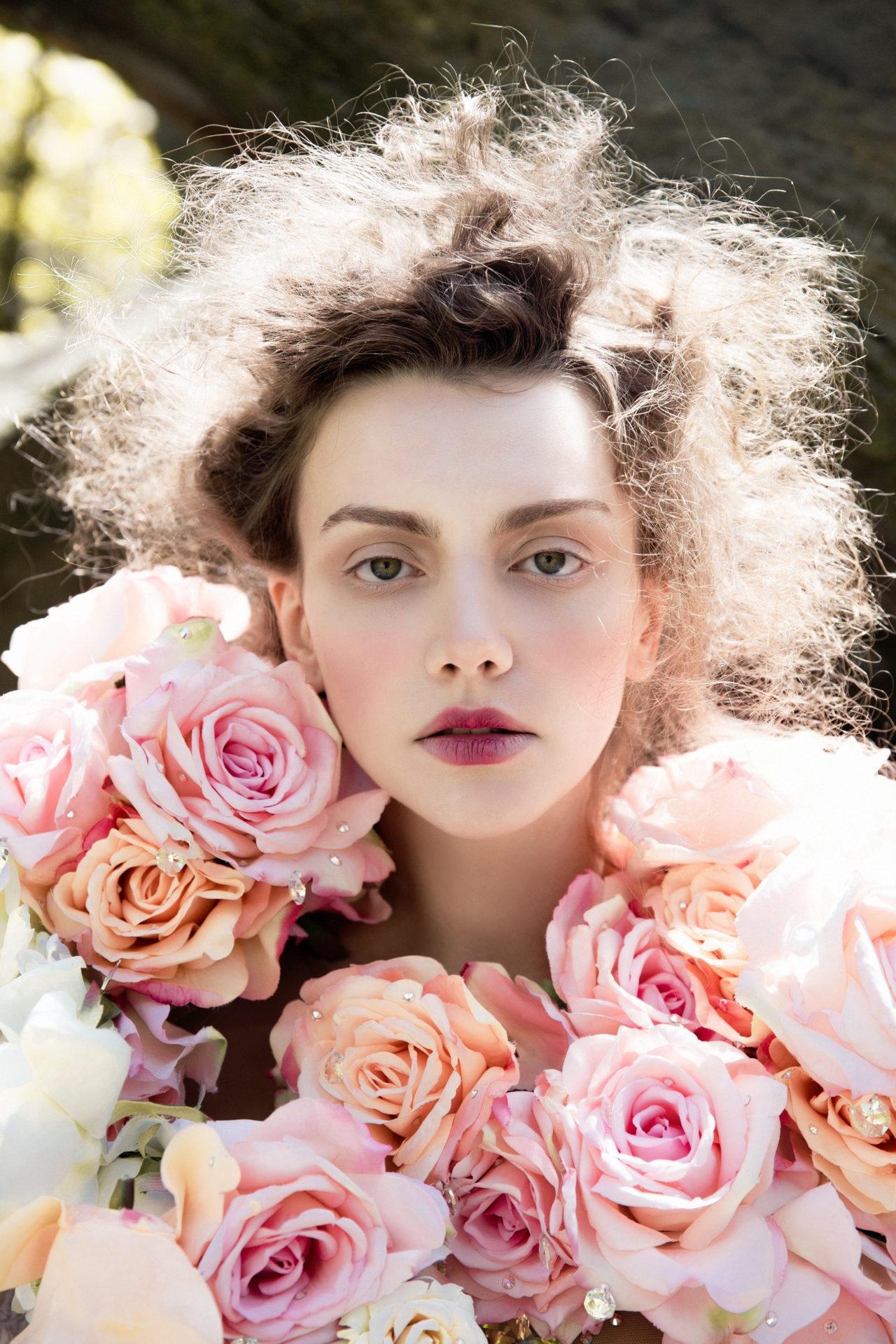 Body with flowers - The Blonds. Headdress - Сhuchu.