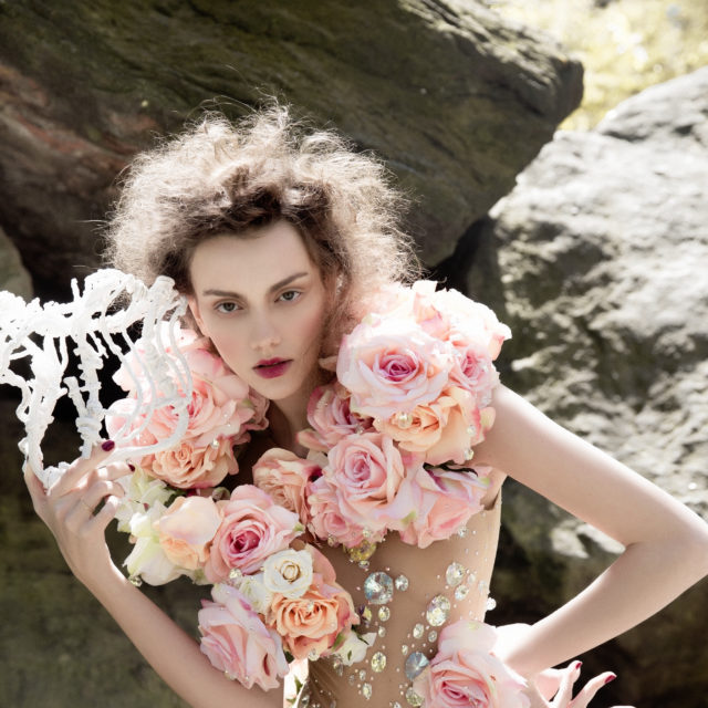 Body with flowers - The Blonds. Headdress - Сhuchu.