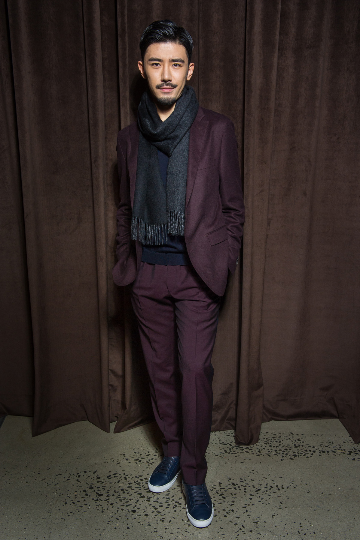 Nik Wang in HUGO BOSS at the BOSS Menswear Fall/Winter 2017 collection presentation
