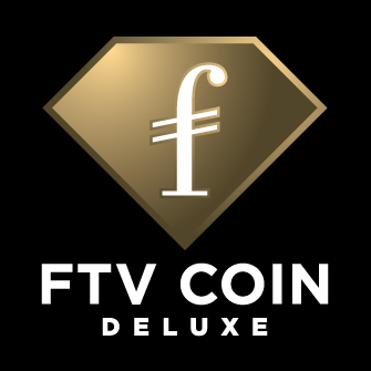 FTV COIN DELUXE Vertical Logo White